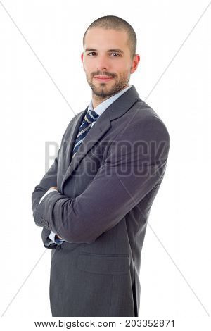 happy business man portrait isolated on white