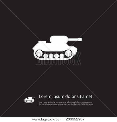 Military Vector Element Can Be Used For Military, Tank, Battle Design Concept.  Isolated Battle Icon.
