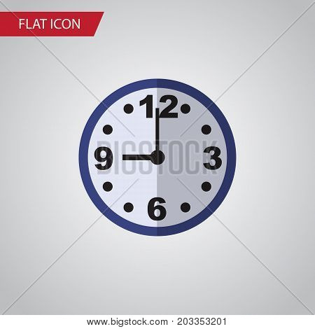 Watch Vector Element Can Be Used For Clock, Watch, Time Design Concept.  Isolated Clock Flat Icon.