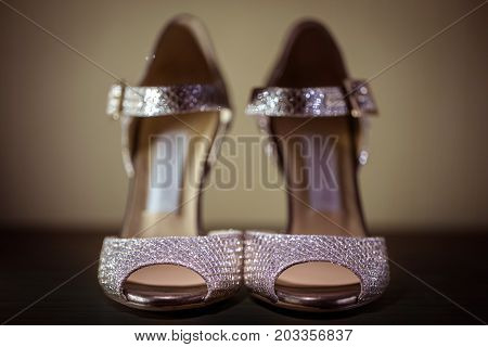 High Heel Glamour Sexy Stiletto Shoes Closeup