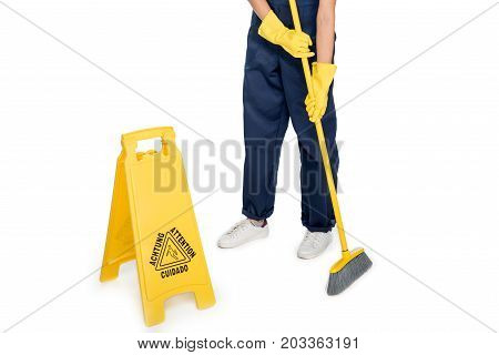 Cleaner Tidying Floor