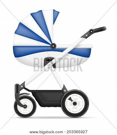 Baby Carriage Stock Vector Illustration