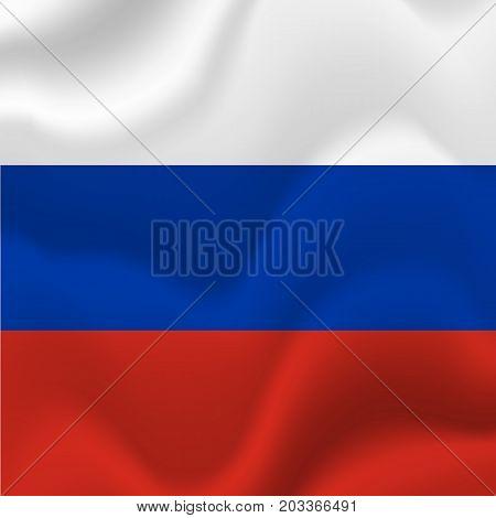 Russia waving flag. Waving flag. Vector illustration.
