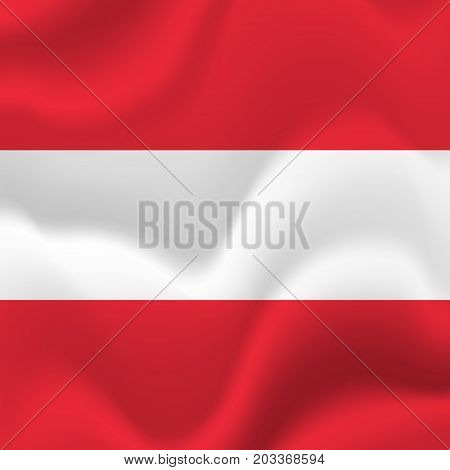 Austria waving flag. Waving flag. Vector illustration.