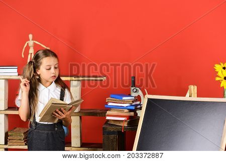 Back To School And Education Concept. Kid And School Supplies
