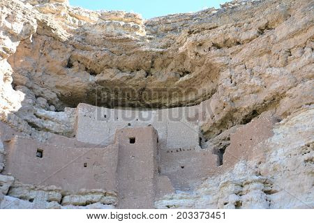 Montezumas castle national park is a cliff dwelling in northern arizona