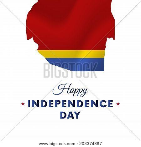 Banner or poster of Swaziland independence day celebration. Swaziland map. Waving flag. Vector illustration.