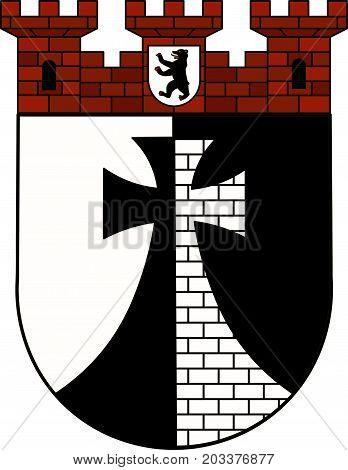 Coat of arms of Kreuzberg of the Friedrichshain-Kreuzberg borough Berlin Germany. Vector illustration from the