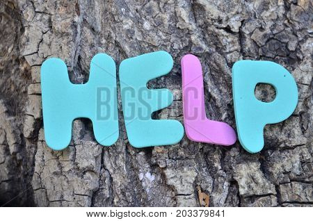 word help on a  abstract colorful background