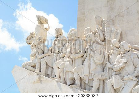 Monument Of The Discoveries In Lisbon.