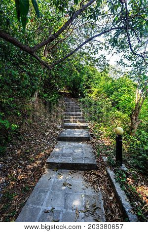 Stairway To Hill At Koh Maiton Island