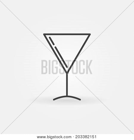 Martini glass vector icon or sign in thin line style