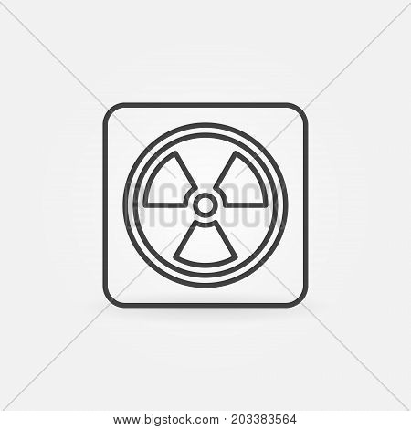 Radiation concept linear icon. Vector nuclear power sign or design element in thin line style