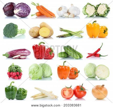 Collection Of Vegetables Bell Pepper Tomatoes Carrots Onion Fresh Food Vegetable Potatoes Isolated