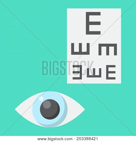 Optometry flat icon, medicine and healthcare, eye sign vector graphics, a colorful solid pattern on a cyan background, eps 10.