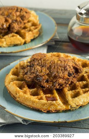 Homemade Southern Chicken And Waffles