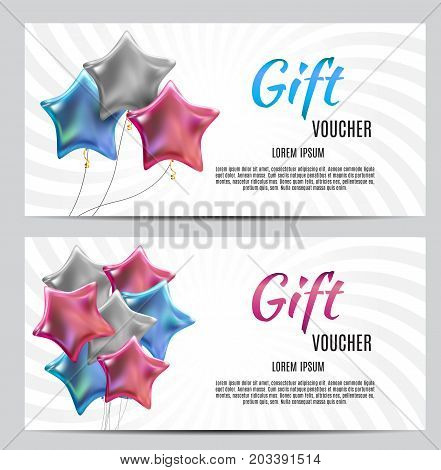 Gift Voucher Template Vector Illustration for Your Business EPS10