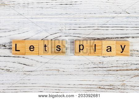 let us play word made with building blocks. concept