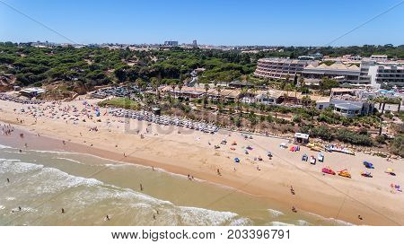 Beach at Olhos de Agua Algarve. Albufeira