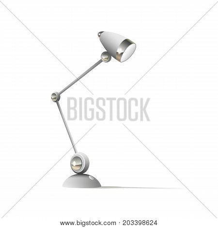 Table lamp icon flat isolated on white background vector illustration