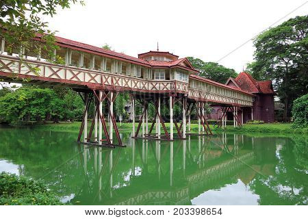 Sanam Chan Palace at Nakhon Pathom province in Thailand, built by the King Rama 6 of Thailand