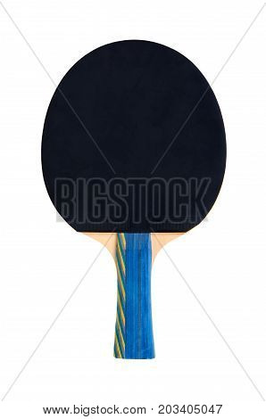 Ping Pong Paddles And Ball Cutout, Isolated On White Background