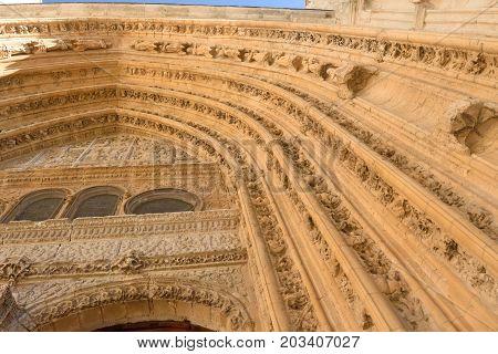 Cathedral Of Palencia, Castilla Y Leon, Spain (los Reyes O San Juan Door)