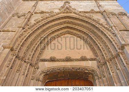 Los Novios Door Of The Cathedral Of Palencia, Castilla Y Leon, Spain
