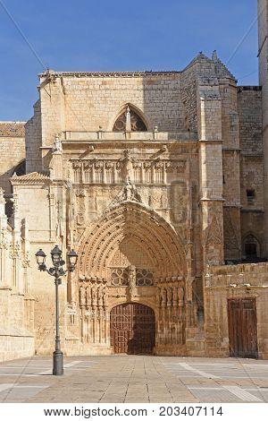 Virgen O El Obispo Door Of Catheral San Antolin, Palencia, Castilla Y Leon, Spain