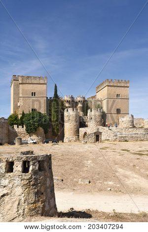 Castle Of Ampudia, Tierra De Campos, Palencia Province, Castilla Y Leon, Spain