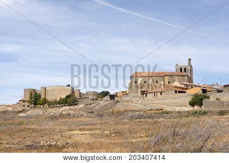 Village Of  Montealegre De Campos, Tierra De Campos Region, Valladolid Province, Castilla Y Leon, Sp