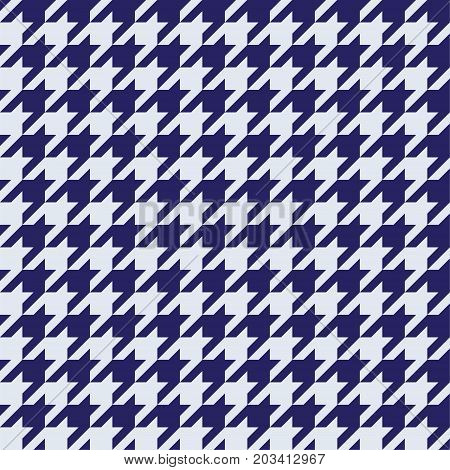 Seamless houndstooth pattern in blue. Vector image.