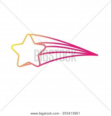 silhouette shooting star shiny in the sky vector illustration image