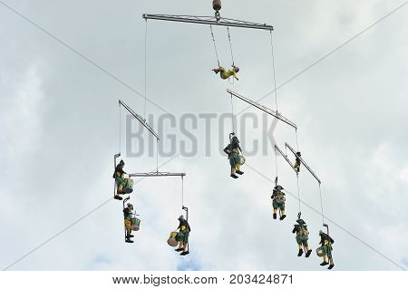 Eire Square, Galway, Ireland July , Art Festival 2017, Mobile Home, Performers Are Lifted 100 Ft Int
