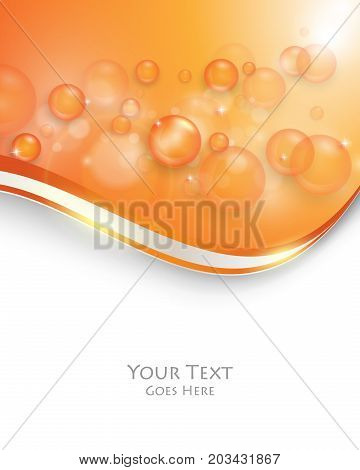 colorful cover design with transparent bubbles. Trendy bright template. Creative color background. Eps10 vector illustration