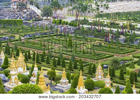 Tropical Botanical Garden at Pattaya in Thailand