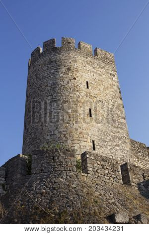 Fortress Of Kalemegdan And Tower In Belgrade, Serbia
