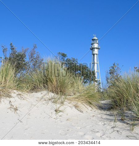 The lighthouse amongst the dunes at McCrae.