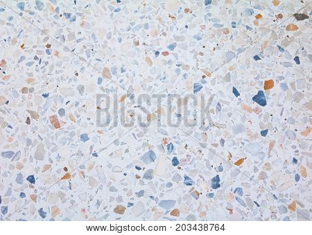 terrazzo floor. small stone color old texture or marble background with copy space add text