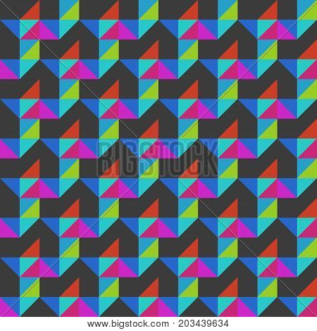 Modern colorful vector triangular seamless pattern. Trendy endless ornament. Contemporary geometric texture. Element of design.