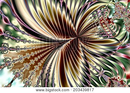 Illustration: fractal lines form a structure that resembles a flying butterfly.