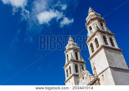 Detail Of The Campeche Cathedral, Mexico.