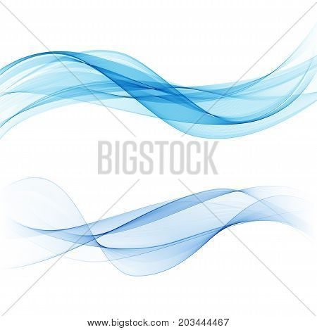 Blue transparent wave Abstract background vector water wave