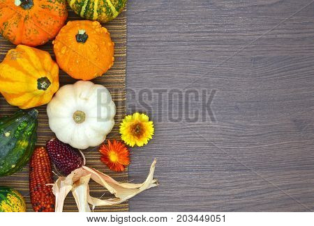 pumpkins in a topview position close up photo