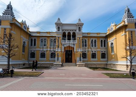 KISLOVODSK, RUSSIA - MAY, 2017: MAIN NARZAN BATHS IN THE HISTORIC CENTER