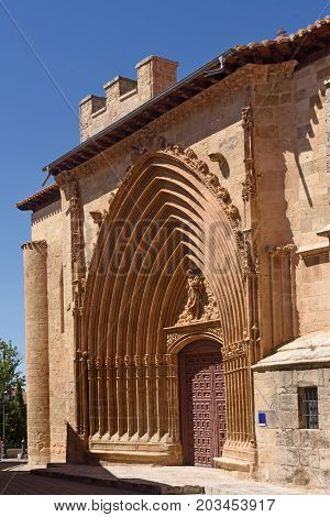 Portico Of San Juan Church In Aranda De Duero, Burgos Province, Spain