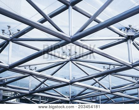 Steel structure Architecture detail Glass Roof Abstract Background