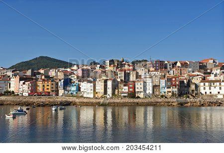 View Of The Fishing Village Of La Guardia, Pontevedra Province, Galicia, Spain