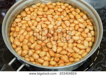 Peanuts or Groundnut Deep Fried in A Hot Boiling Oil Good Source of Dietary Fiber Vitamins and Minerals.