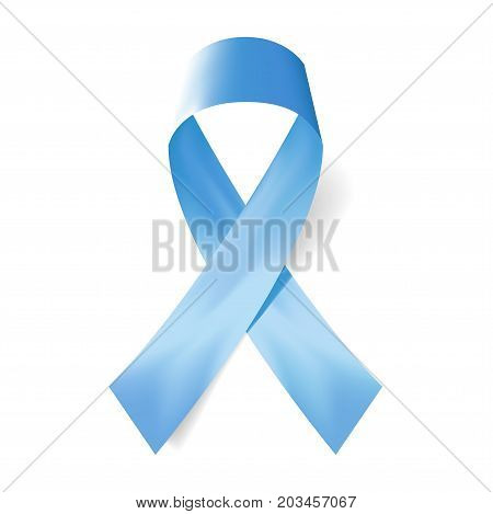 Realistic blue ribbon and Causes and Meanings icon . Vector illustration